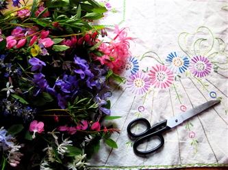 Preparing the flowers