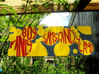 Fancy Boy Sam Candy Sign