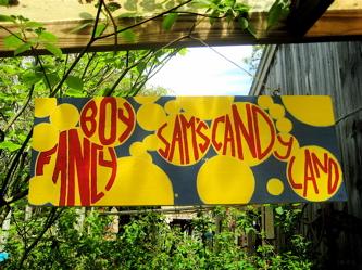 Fancy Boy Sam Candy Sign