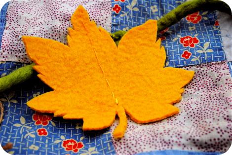 Felted leaf