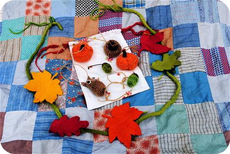 Fall knit nature set