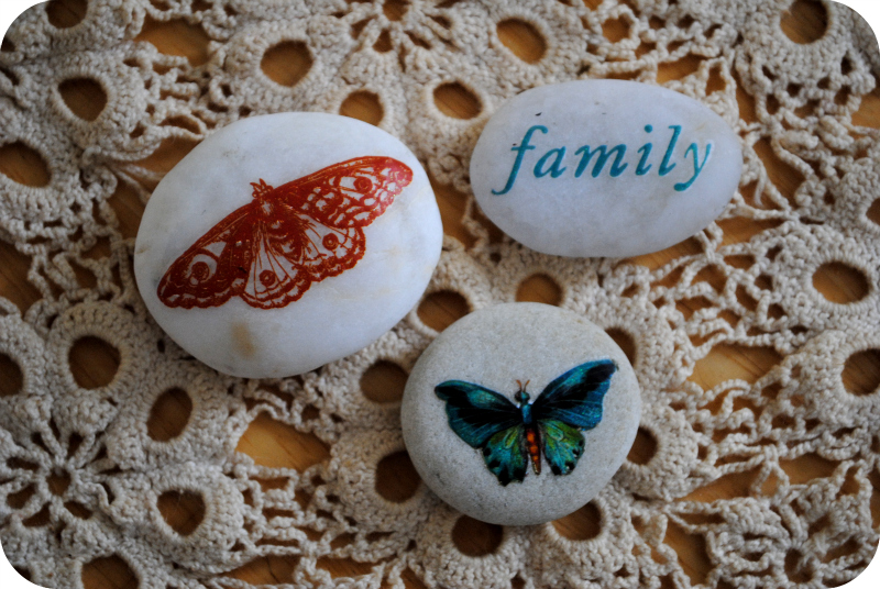 Decorated Pebbles - Garden Mama